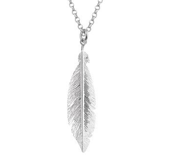 LAVI Feather Necklace Sterling Silver