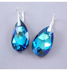 LAVI Swarovski Elements Earrings - Bermuda Blue