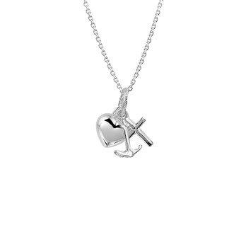 LAVI Zilveren Hoop, Geloof En Liefde ketting