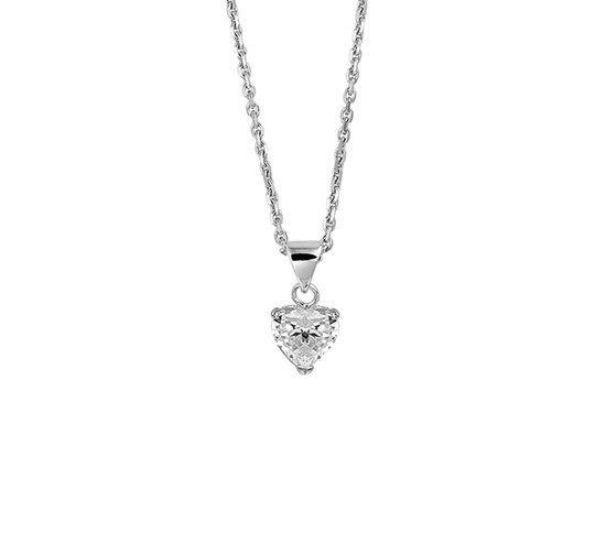 LAVI Sterling Silver Zirconia Heart Necklace