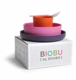 Biobu [by EKOBO] Bambusgeschirr Set Persimmon - orange, rosa, lila