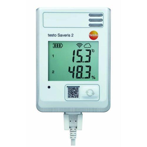 Testo Saveris 2-H1 temperatuur- en vochtigheidsvoeler.