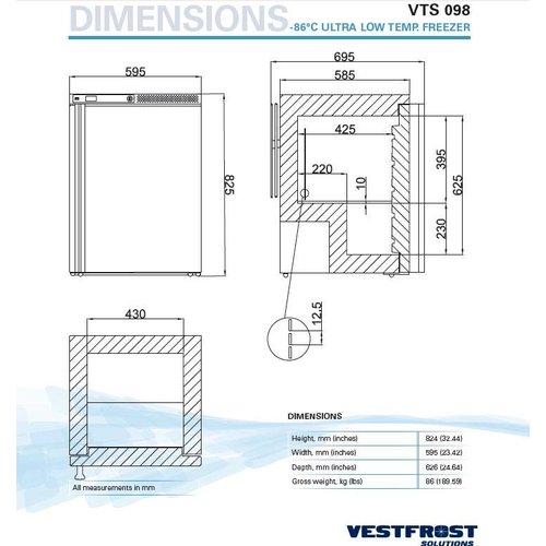 Vestfrost VTS 098 -86° ultra low temp. vriezer