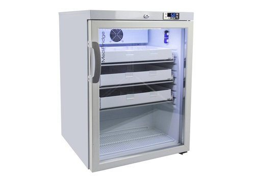Medifridge MF140L-GD DIN58345 glasdeur koelkast