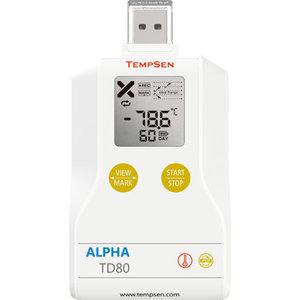 TempSen Alpha TD80 temperatuurlogger USB