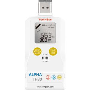 TempSen Alpha TH30 vocht en temperatuurlogger USB