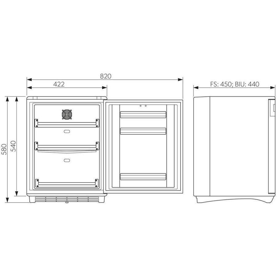 HC 502 DIN 58345 Inhoud 43 liter