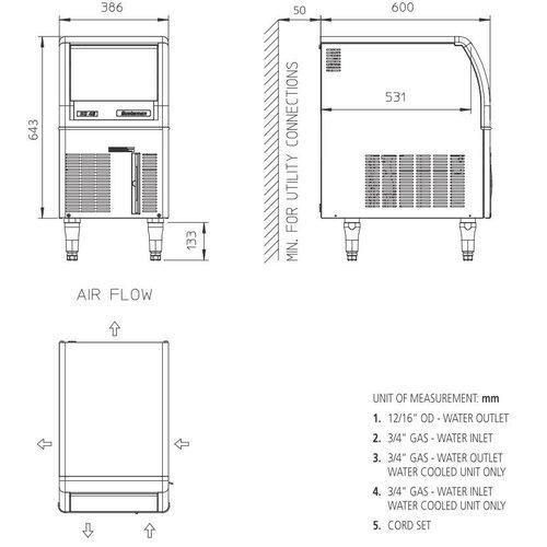 Scotsman EC 47 AS ijsmachine Gourmet-blokjes