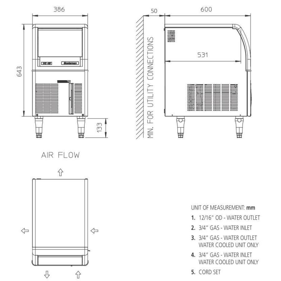 EC 57 AS ijsmachine Gourmet-blokjes