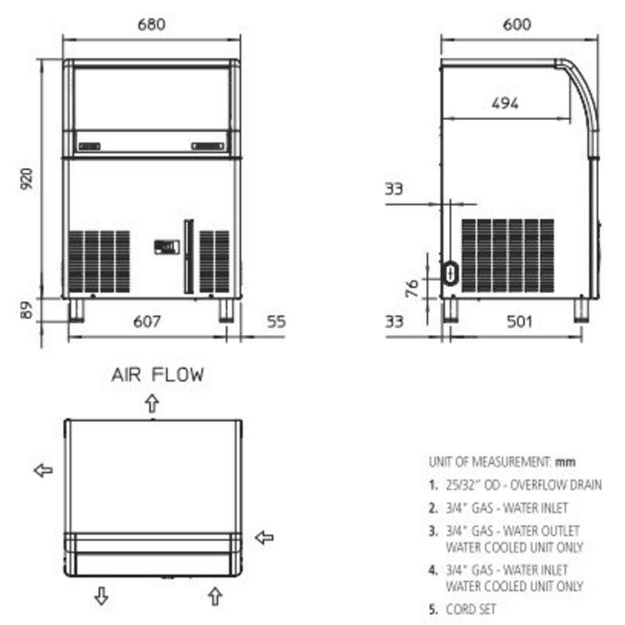 EC 127 AS ijsmachine Gourmet-blokjes
