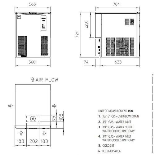 Scotsman MXG 427 ijsmachine Gourmet-blokjes Top-model