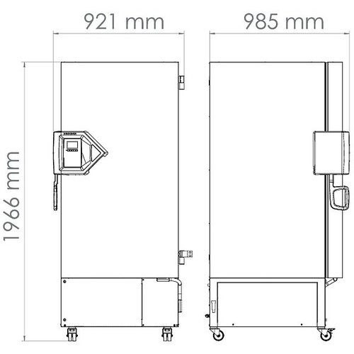 Binder Model UFV 500 Ultra Low vriezer 477 liter