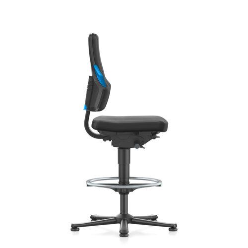 Bimos Nexxit 3 laboratorium stoel met glijders en voetenring