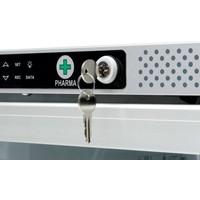 AKG 397 Medicijnkoelkast glasdeur met  (optioneel)  DIN58345