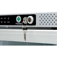 AKG 397 Medicijnkoelkast glasdeur met rooster. DIN58345