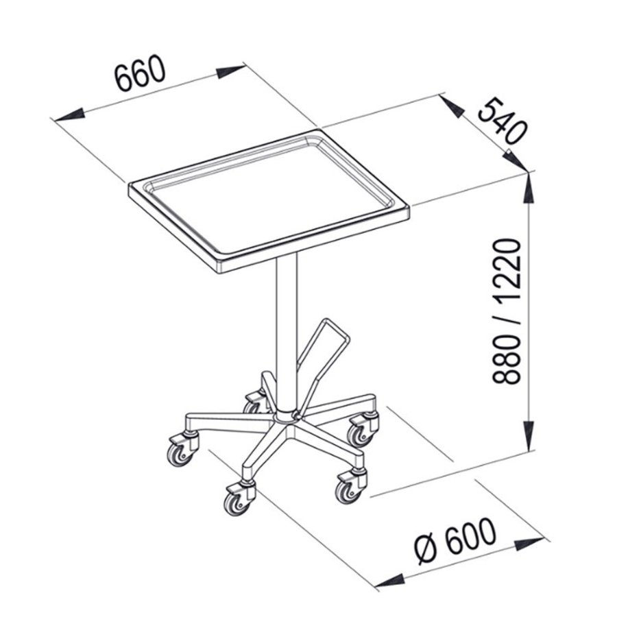 MAYO CN - RVS-instrumententafel