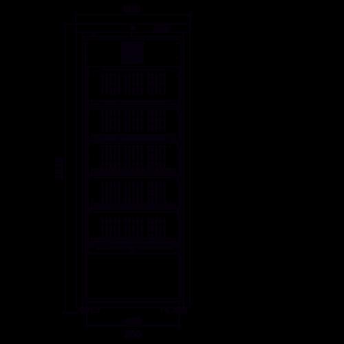 Medifridge MF450L-GD 2.0 LAB glasdeur kast model laboratorium koelkast