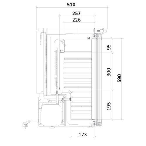 Medifridge MF60L-GD 2.0 Glasdeur met DIN 58345 klein-model
