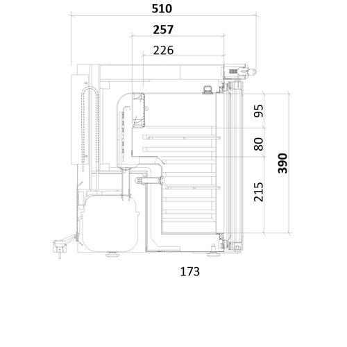 Medifridge MF30L-GD 2.0 LAB Glasdeur klein-model