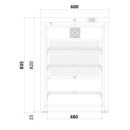 Medifridge MF140L-CD 2.0 LAB tafel model laboratorium koelkast.