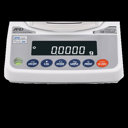 A&D Analytische Balans HR-251-A-NVH maximum capaciteit 252 / 62 gram