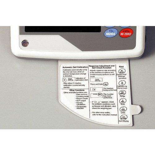 A&D Industriële balans GX-8K2-NVH maximum capaciteit 8,1 / 2,1 kg