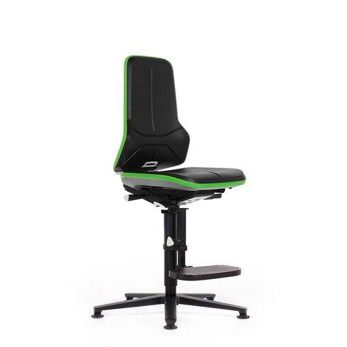 Bimos Neon 3 laboratorium stoel met glijders en opstaphulp
