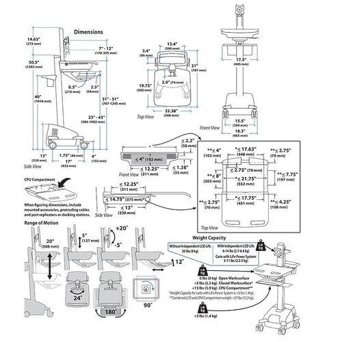 Ergotron Computer Cart SV42- 6302-2