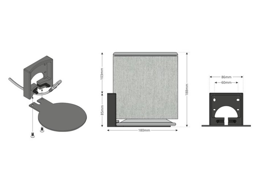 BeoPlay M5 - Muurbeugel