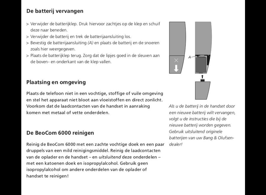 Originele batterij BeoCom 6000 Bang & Olufsen