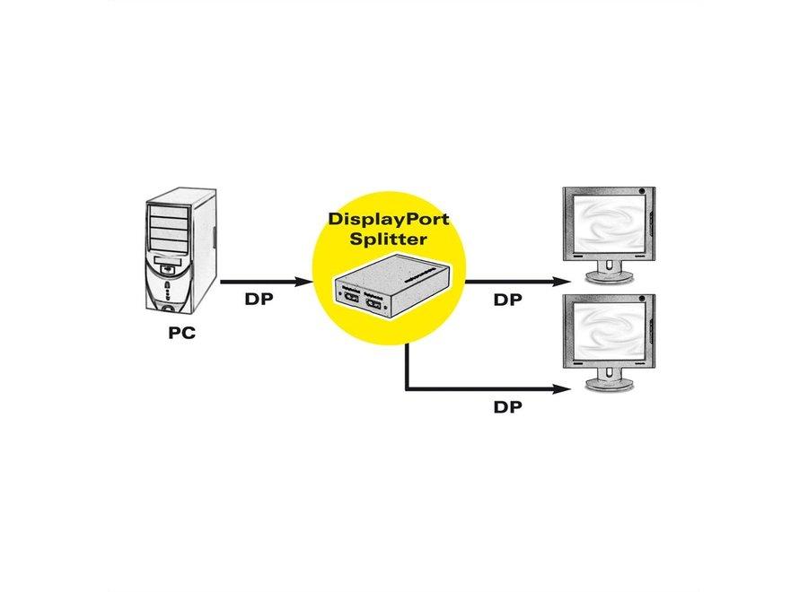 DisplayPort Video-Splitter, 2-voudig