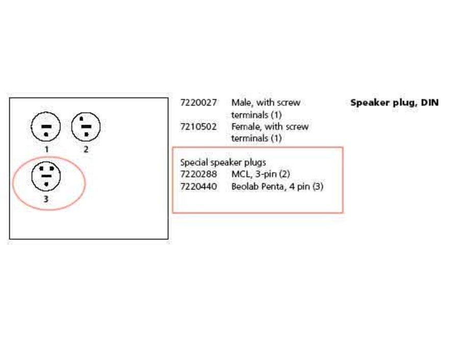 MCL Speaker Plug 3-Pin