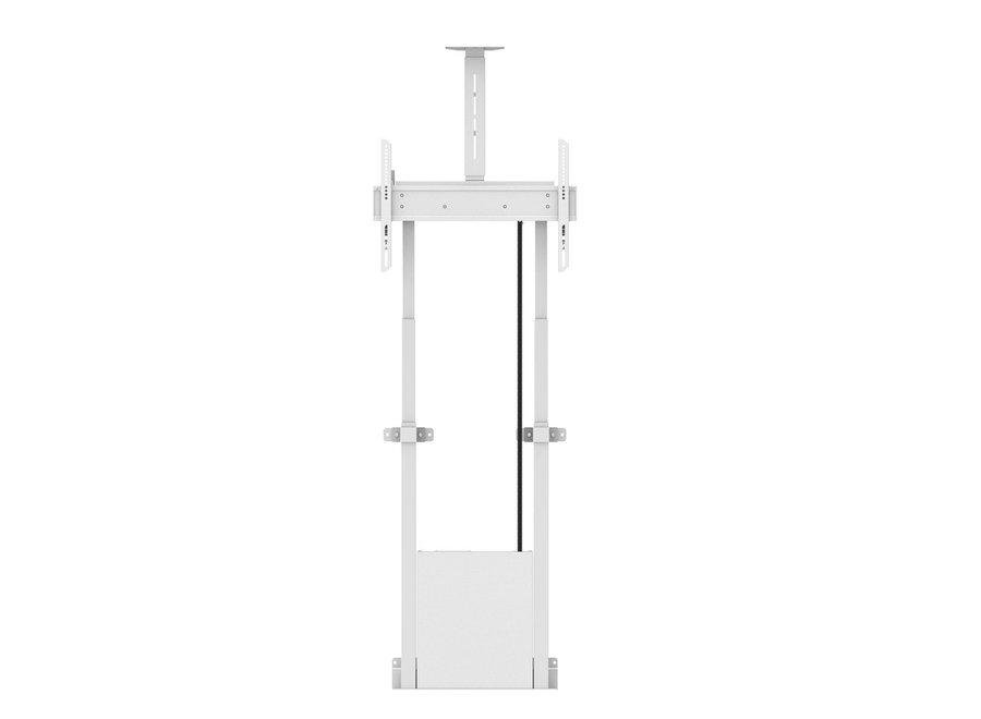 Gemotoriseerde vloerbevestiging TV lift en cameraplank