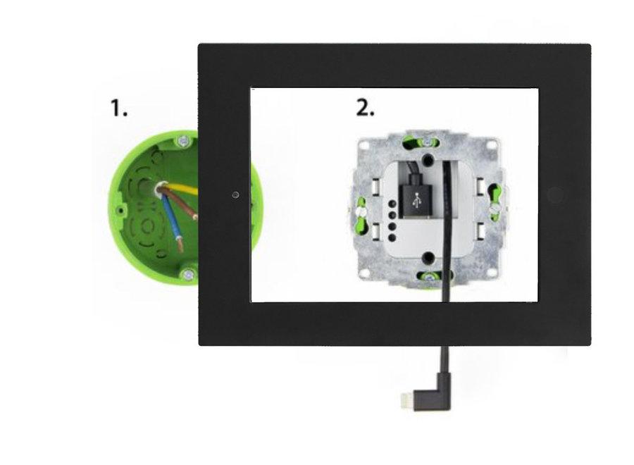 230v Inbouw USB > Apple Lightning lader