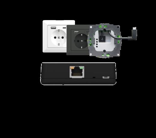 Voeding POE en USB