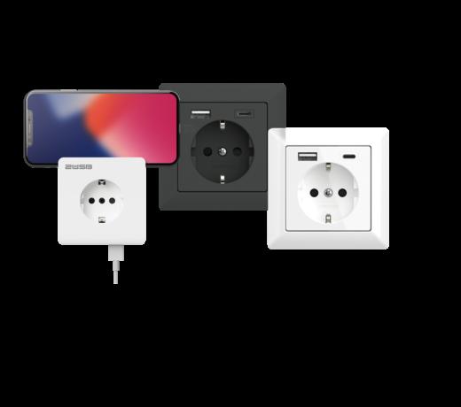 USB Wandcontactdoos / stopcontact