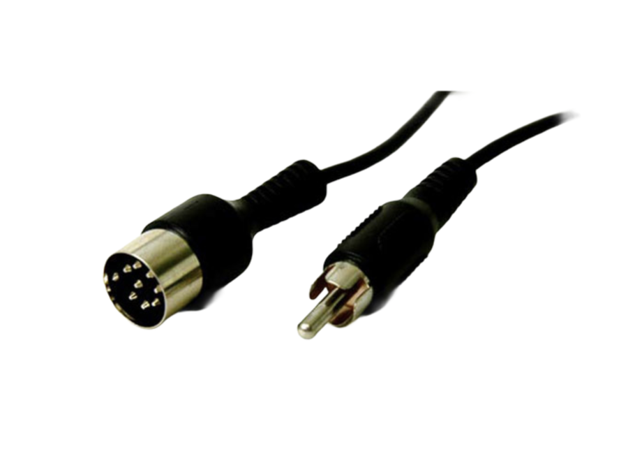 Kabel voor RCA male to DIN (Power Link) > 3rd party pre-amplifiers.