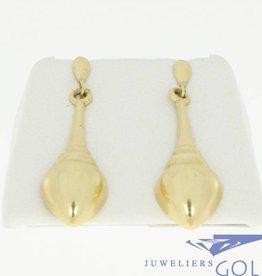 vintage 14k gouden oorstekers