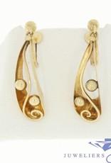 vintage 14k gold earrings with screw closure