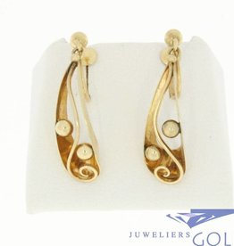 vintage 14k gold earrings with screw closure