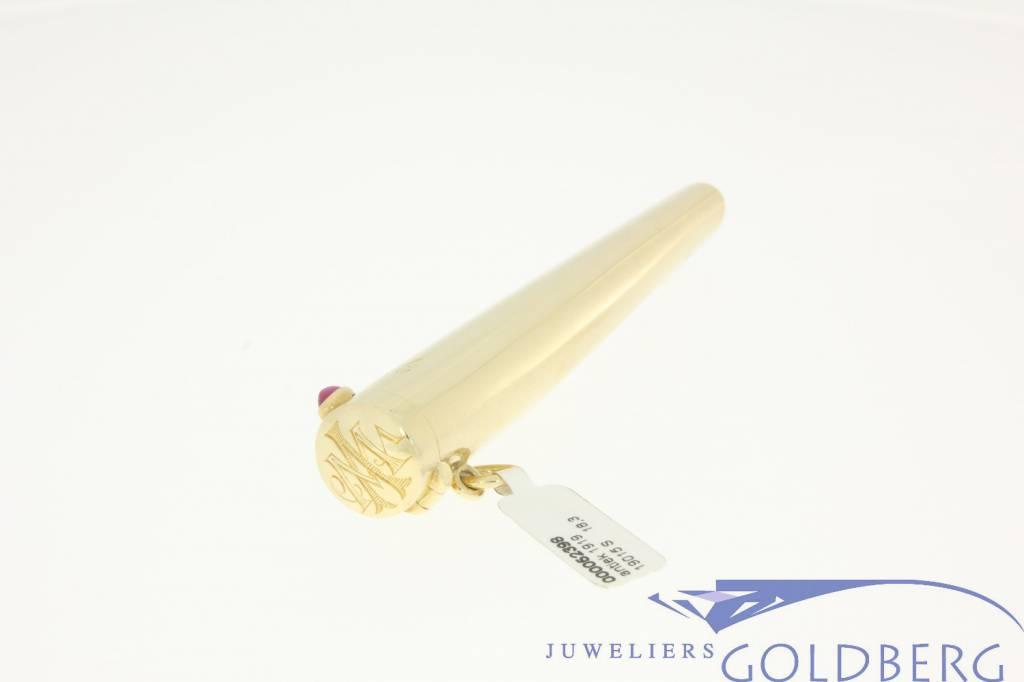 antieke gouden opbergkoker sigarettenhouder