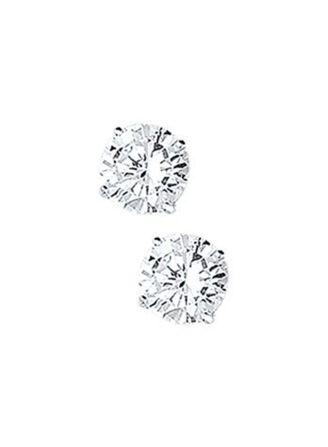 silver zirconia earstuds 7mm