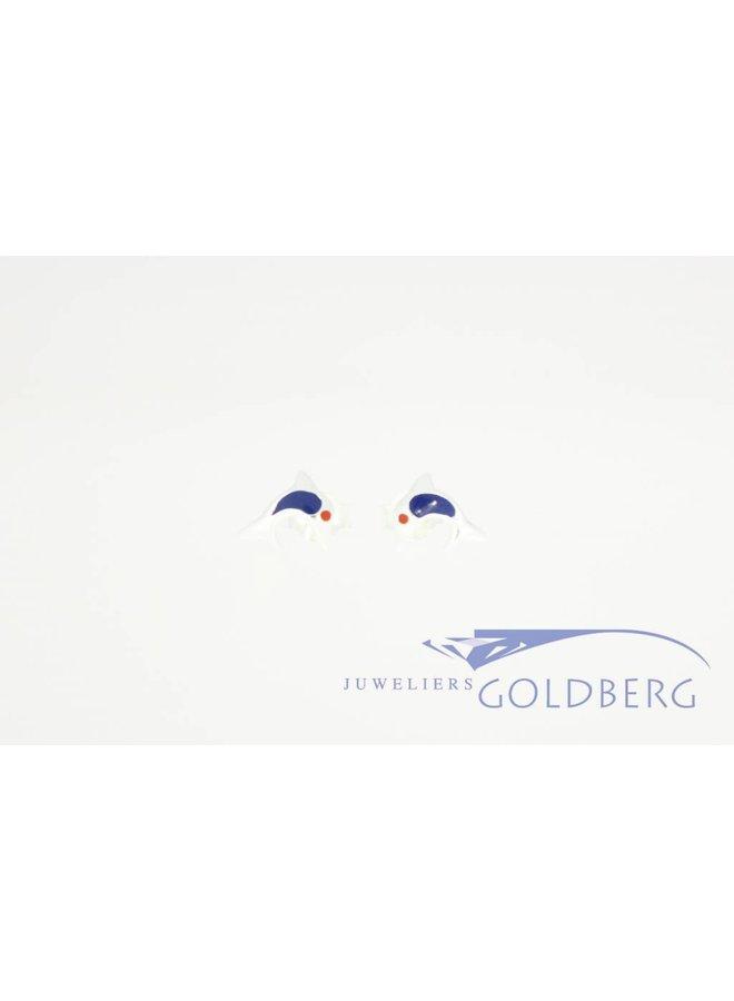 Zilveren oorstekers dolfijntjes