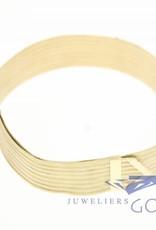 Vintage 14k gouden Milanese schuif armband