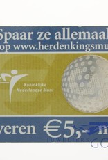 Silver Dutch 5 Euro coin 2005