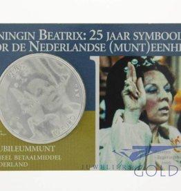 25 jaar Beatrix zilveren tientje