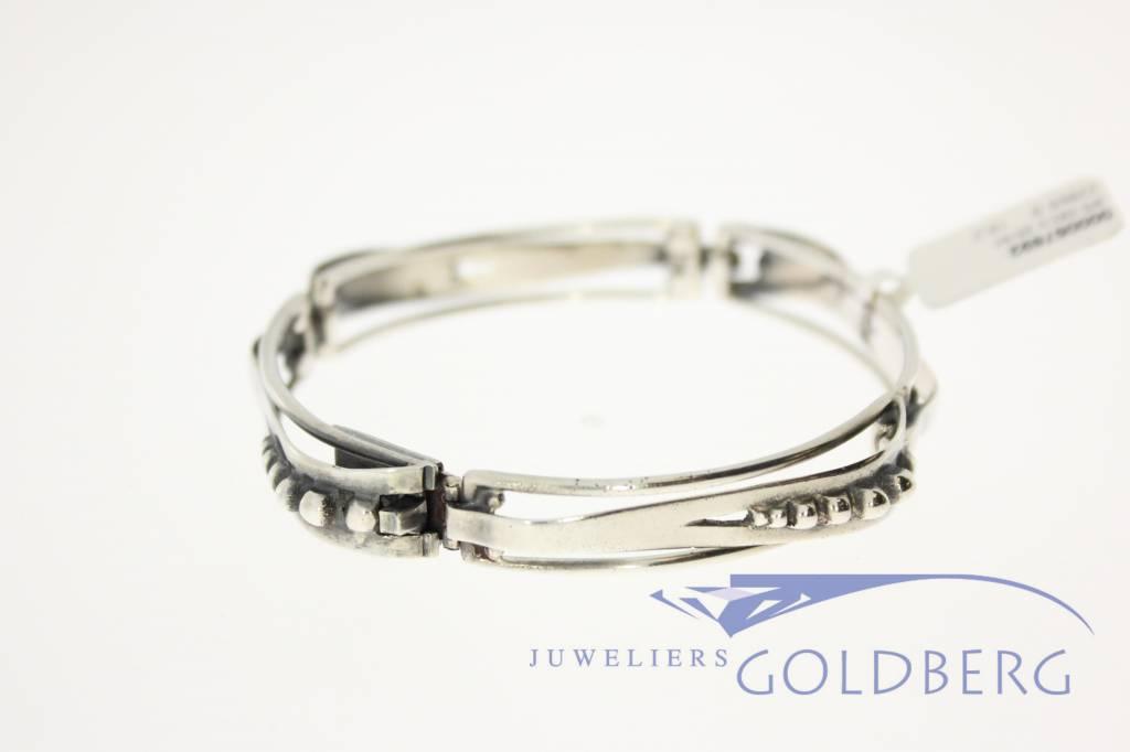 zilveren art deco armband