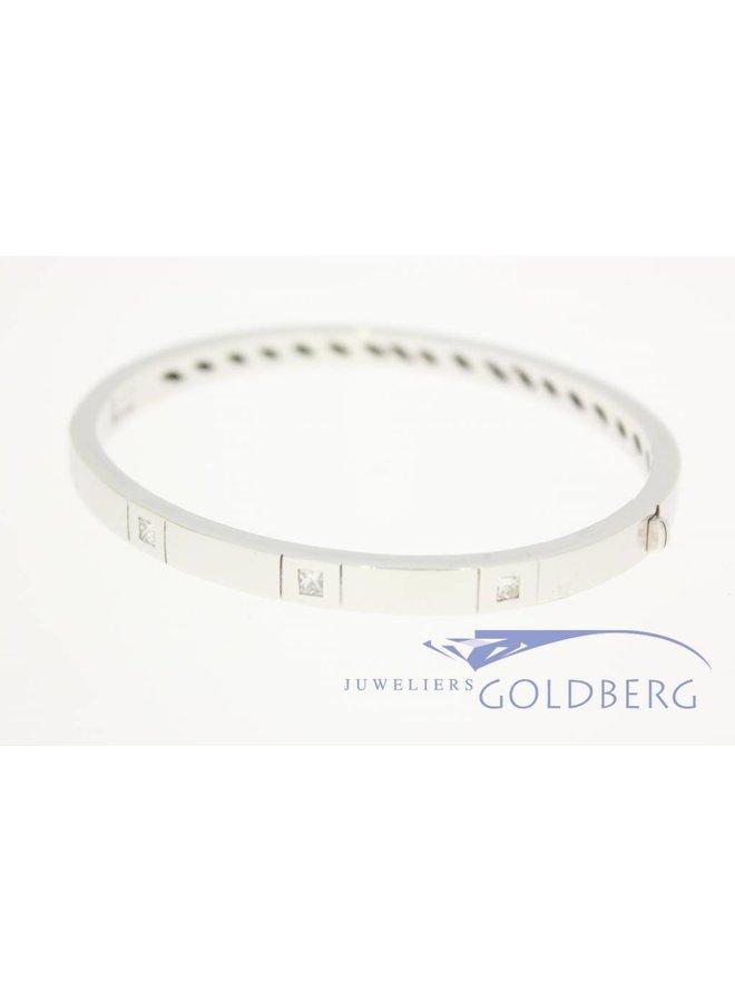 18k witgouden slaven armband prinses diamant 0.56ct