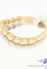 vintage 14k gold ring in white en yellow gold