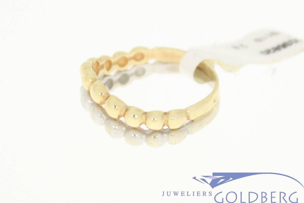 vintage 14k 2 kleuren gouden ring